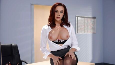 Secretary Boobs Porn
